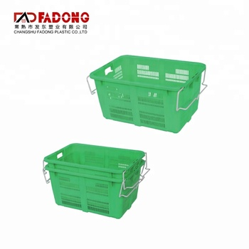 670x465x340mm durable plastic vegetable storage basket for grill