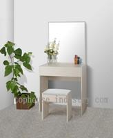 Modern living room furniture simple oak wood vanity set make up dresser with mirror