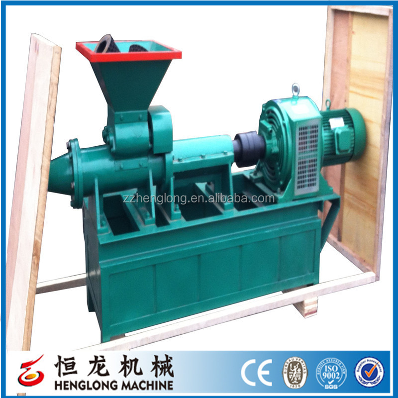 2017 Factory Pulverized coal rods making machine / pulverized coal extruding machine / pulverized coal extruder