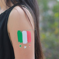 2016 Olympic game national flag Italy flag tattoo body hand temporary tattoo sticker