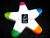 new star highlighter 5 in 1 highlighter pen 5color highlighter Pentagram pens