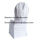 elastic shirred wedding chair cover /white spandex ruffled chair cover with swag