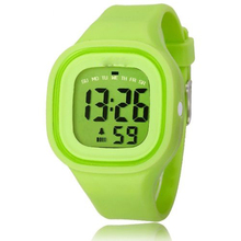 Silicone Jelly Quamer Watch Dual Time Wristwatches For Women
