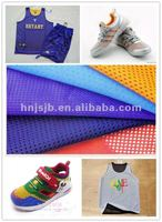 100 polyester tricot mesh fabric/sportswear,shoes fabric