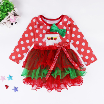 Latest design girls frocks red dot pattern kids frock designs children clothes girls