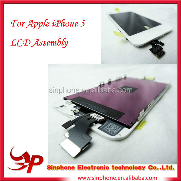 OEM spare parts high quality Completed LCD screen and digitizer assembly for iPhone 5