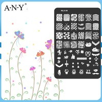 Nail Beauty Design Printing Art Metal DIY Nail Plates Stamping Nail Art