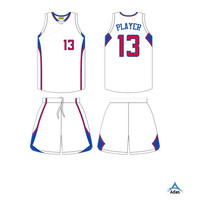 Latest design custom reversible basketball jersey for club