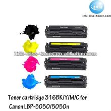 Laser printer color toners for canon 416 c toner cartridge