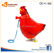 Red Chicken Pet Walking Balloon for Children