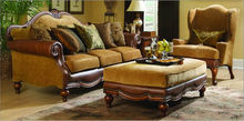 Deluxe European Style Leather Classic Sofa Sets 1+2+3 YY1009