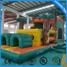 Large Amusement Park Kids Giant Inflatable Obstacle Course