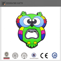 Creative green PVC epoxy souvenir fridge magnet owl