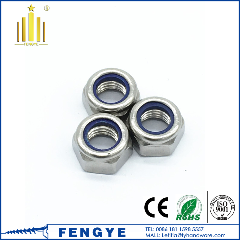 high quality stainless steel A2-70 <strong>M10</strong> lock <strong>nut</strong>