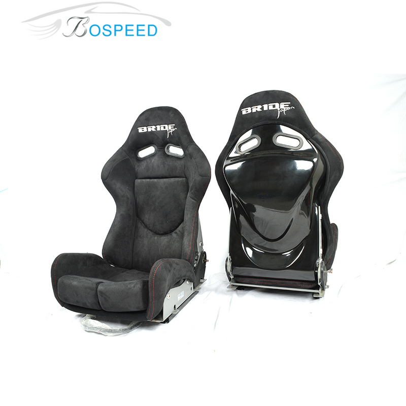 Newest design adjustable Bride SPS Lowmax Alcantara racing seats/ frp racing car seat