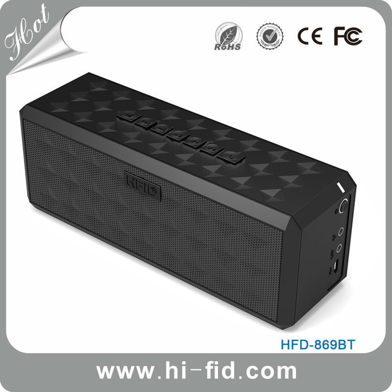 Portable Stereo 2.0 Channel Dual 5w Wireless Mobile Mini Computer Speaker Enhanced Bass Boost Built in Mic