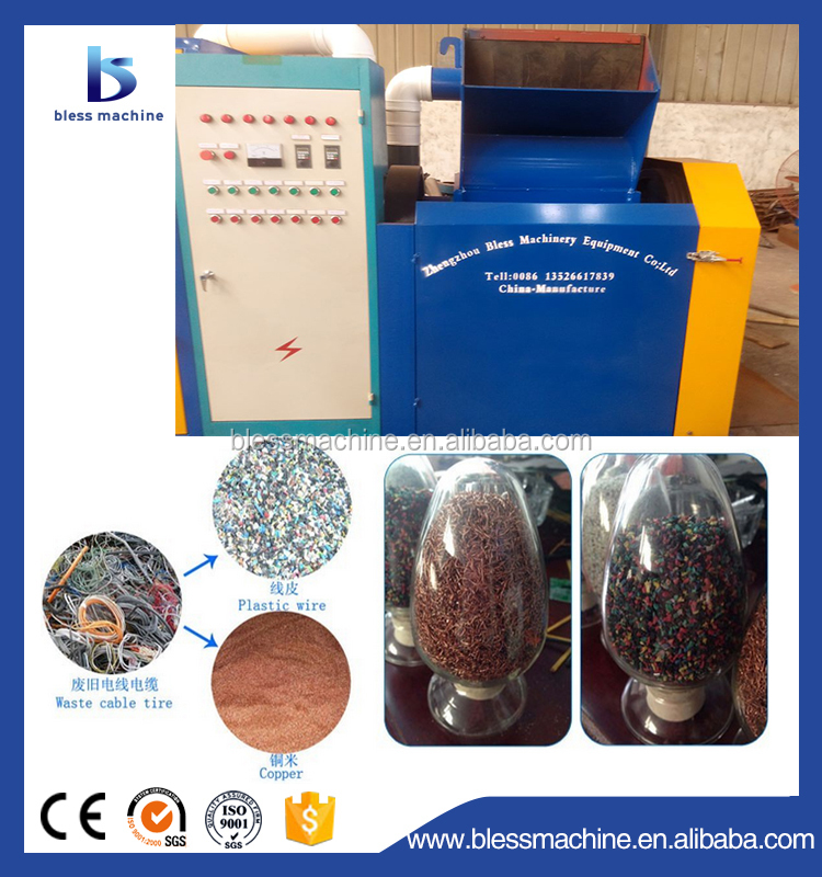 Multi functional wide output range electrical cable wire recycling equipment for sale with Service 24 hours a day