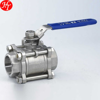 3/8'' 3 stainless steel medium pressure ball valve