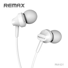 Warranty!!! Remax Rm-501 Stereo 3.5mm In-Ear Earphone With Mic For Smart Phone/ipad HD-382