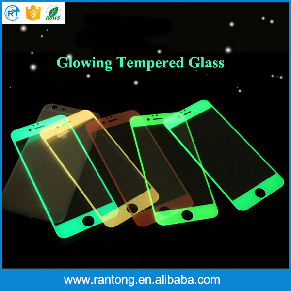 new products alibaba china glowing in the dark tempered glass screen protector for iphone 6