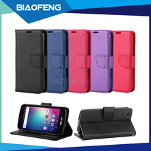 Top selling shockproof pu leather flip wallet stand phone case with credit card slot for blu neo x lte