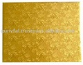 Gold Embossed Corrugated Paper Cake Tray