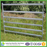 Heavy duty HDG oval rail cattle fencing panels for animal protecting