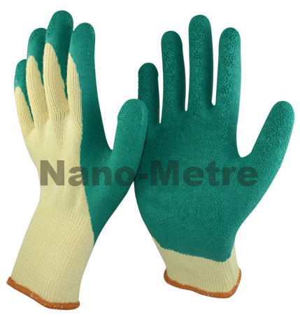 NMSAFETY 10G Fluorescent string knit liner Latex gloves