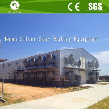 Building Light Steel Fabricated Structure Chicken House Used for Layer and Broiler Cage Equipments