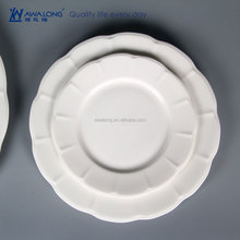 Plain Design Oval High Quality Durable Pure White Porcelain Plate For Wholesale