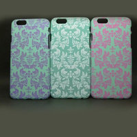 China Gangnam retro style flower printing pc case for iphone 6 4.7inch