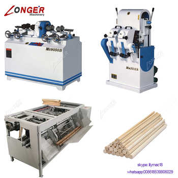 Factory Sale Wooden Round Shovel Handle Broom Hammer Handle Mop Stick Processing Wood Broom Stick Making Machine