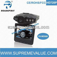 2.5inch HD 720p car recorder 270 degree rotating screen of night vision with loop recording spy-camera