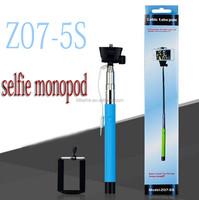Extendable Handheld Professional Selfie Stick Monopod for IOS and Android Smartphones Z07-5S Cable take pole Selfie Remote Shutt