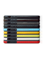PC+TPU+PU slim bumper with leather for iphone 5 5s