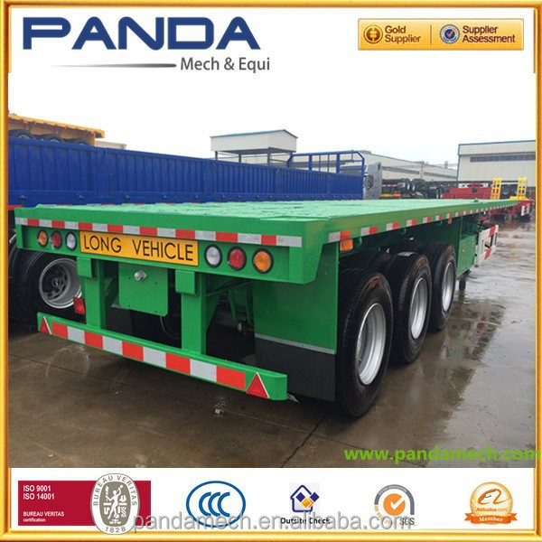 20' and 40' container carrier flatbed semi trailer,two axles and three axles
