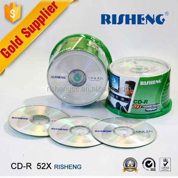 RISHENG 52X 700MB blank cd wholesale/blank cd 50spindle/recodable cds