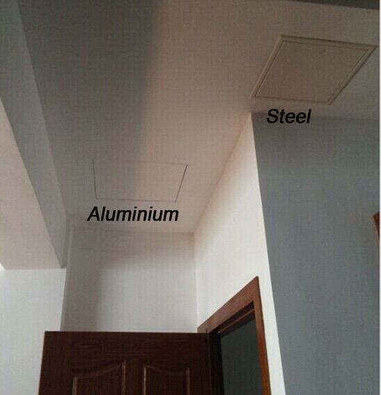 Galvanized Steel Test Panels Ceiling Trapdoor Aluminium