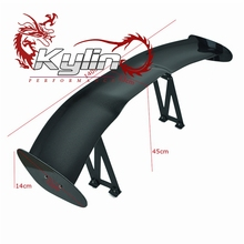 Kylin racing top quality auto accessoires GT Carbon Fiber or FRP universal racing rear Spoiler for sedan
