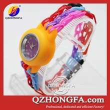 Crazy loom rubber band with Quartz watch