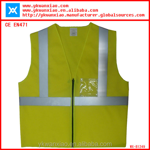 reflective teflon vest for children meeting EN471 CE