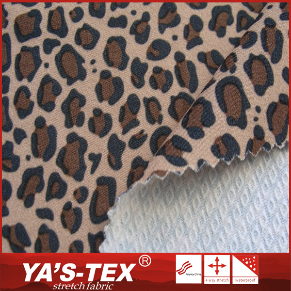 Fancy design soft touch stretch polyester jacquard fabric for board shorts