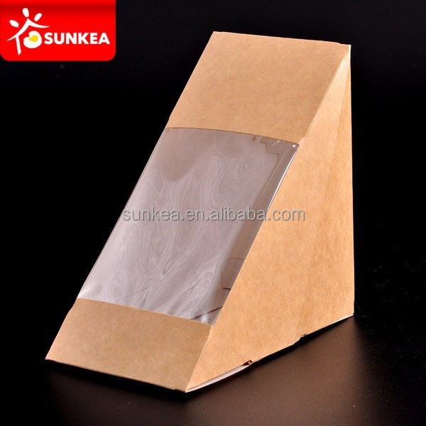 Brown kraft paper sandwich box / sandwich container