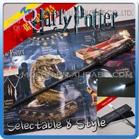 MINI QUTE high quality harry potter 8 characters magic wand with flash in box electronic toy brinquedo boyts toys NO.MQ 062