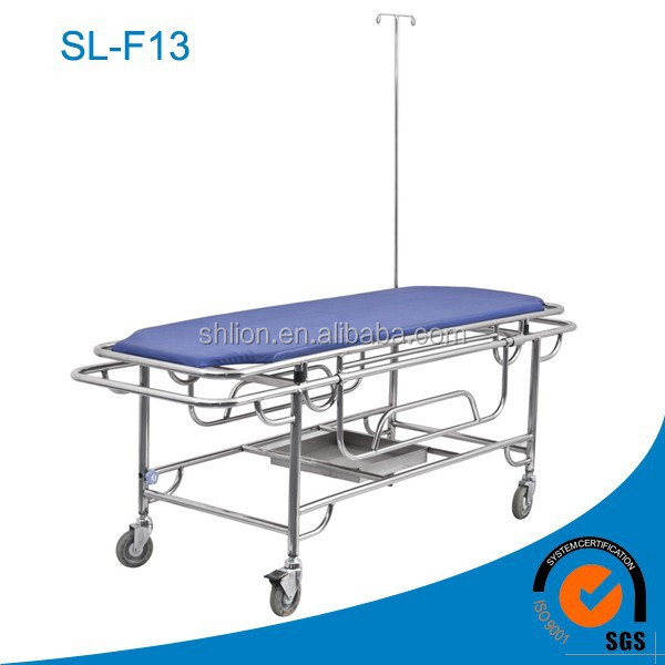 Emergency Ambulance Stretcher Standard Dimensions Portable Stretchers with Wheels