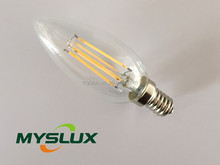 indoor savepower and low cost candle filament bulb 3w E12/14 base long life span