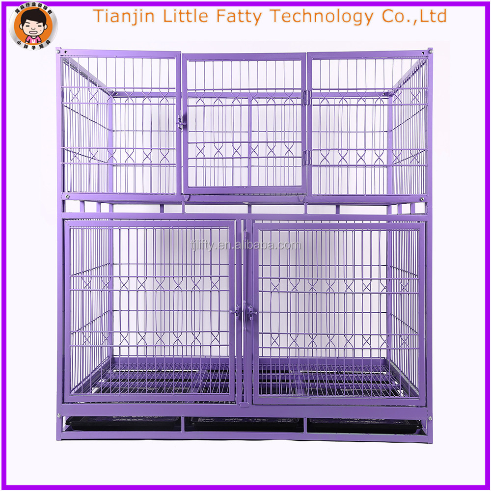 Purple color dog kennel