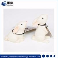 Custom resin bunny figurine christmas ornament