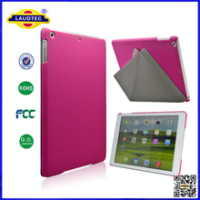 triangle pattern stand leather case and hard Hybrid case back for ipad 5 Laudtec