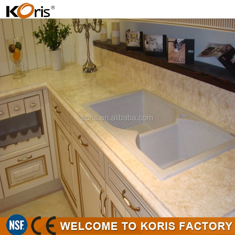 solid surface artificial marble slab acrylic countertop raw material artificial marble
